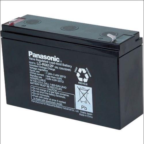 Akumulátor (baterie) PANASONIC LC-R0612P, 12Ah, 6V