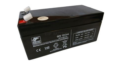Staniční záložní akumulátor GiV 12-3.4, 12V, 3,4Ah