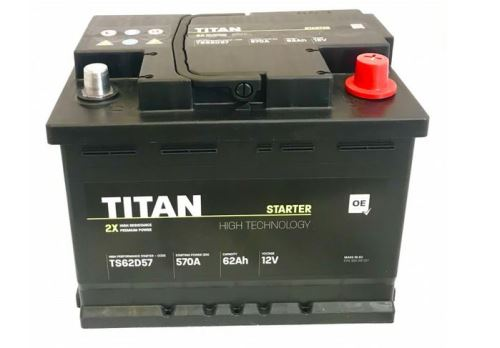Autobaterie TITAN, 62Ah, 12V, 570A