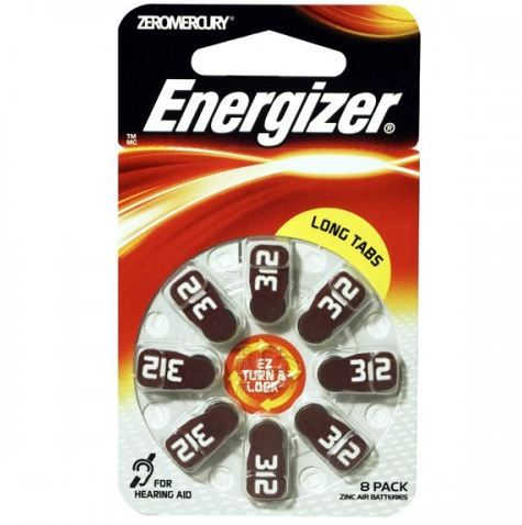 Baterie do naslouchadel Energizer 312 SP-4, (Blistr 8ks)