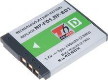 Baterie Sony NP-BD1, 3,6V (3,7V), 800mAh, 2,9Wh