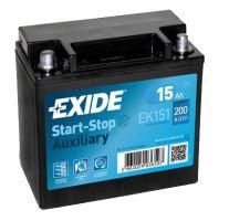 Autobaterie EXIDE Start-Stop Přídavná (Auxiliary), 12V, 15Ah, 200A, EK151