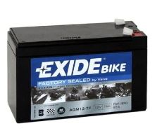 Motobaterie EXIDE BIKE Factory Sealed 7Ah, 12V, 70A, AGM12-7F