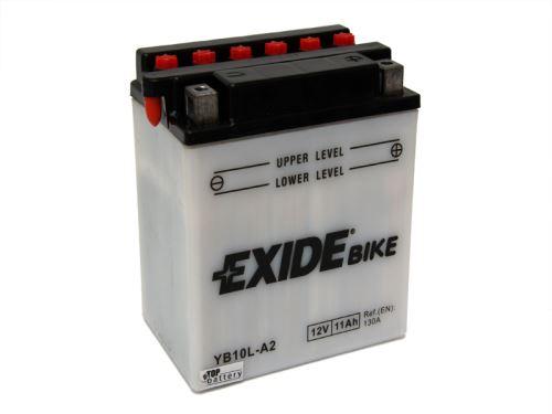 Motobaterie EXIDE BIKE Conventional 11Ah, 12V, 160A, YB10L-A2