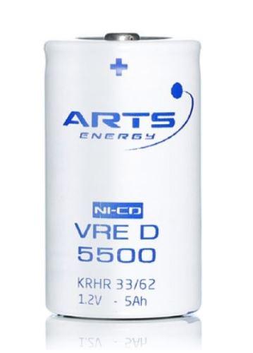 Baterie Saft/Arts 5500 VRE D, 1,2V, (velikost D), 5500mAh, NiCd, 1ks