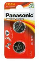 Baterie Panasonic CR2016, Lithium, 3V, (Blistr 2ks)