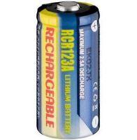 Baterie CR123, RCR123A, Li-FE, fotobaterie, nabíjecí, 3V