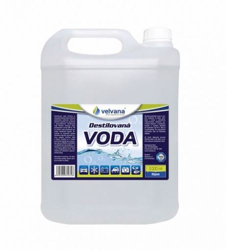 Destilovaná voda, 5L, (kanystr), 1ks