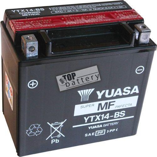 Motobaterie YUASA YTX14-BS, 12V, 12Ah