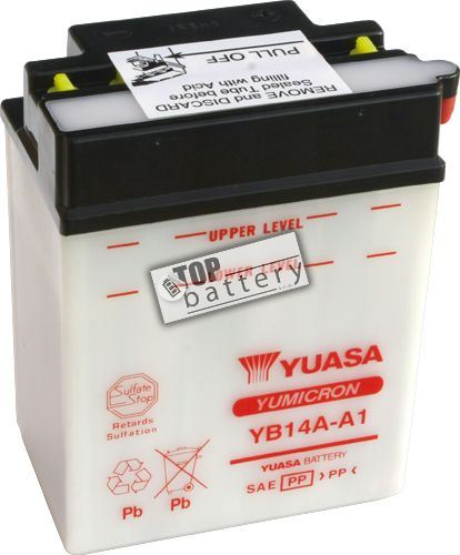 Motobaterie Yuasa YB14A-A1, 12V, 14Ah
