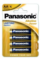 Baterie Panasonic Alkaline Power AA, LR6, (Blistr 4ks)