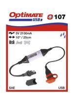 O107 příslušenství k Accumate a Optimate - SAE uni s voděodolnou zás. USB 2,1A