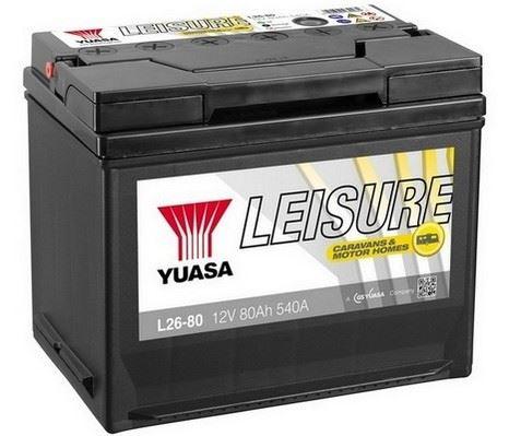 Trakční baterie GS-YUASA Leisure 80Ah, 12V, 540A, baterie pro volný čas