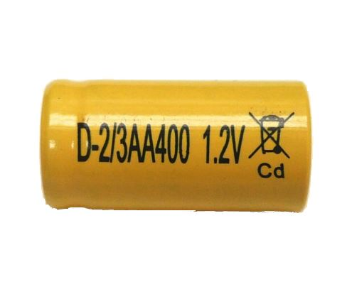 Akumulátor Mexcel 2/3AA, 1,2V, 400mAh, Ni-CD, 1ks