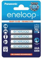 Baterie Panasonic Eneloop BK-4MCCE, AAA, 750mAh, (blistr 4ks)