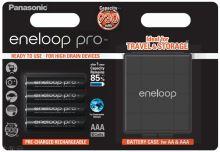 Baterie Panasonic Eneloop PRO Akkubox BK-4HCDEC4BE, AAA, 930mAh, (blistr 4ks) + box