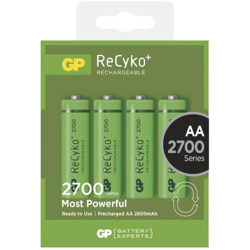 Baterie GP ReCyko+ HR6, AA, Ni-Mh, 2700mAh, nabíjecí, 1032214130, (Blitr 4ks)