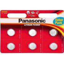 Baterie Panasonic CR2032, Lithium, 3V, (Blistr 6ks)