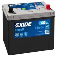 Autobaterie EXIDE Excell 12V, 60Ah, 390A, EB604