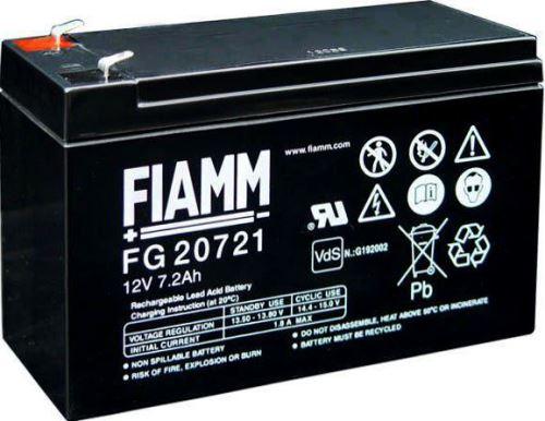 Olověný akumulátor Fiamm FG20721, 7,2Ah, 12V, (faston 187)