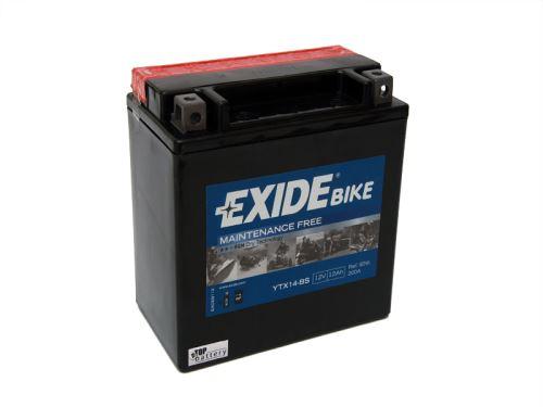 Motobaterie EXIDE BIKE Maintenance Free 12Ah, 12V, 200A, YTX14-BS