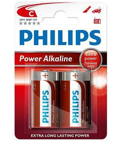 Baterie Philips LR14, C, Power Alkaline, (Blistr 2ks)