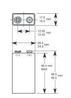 Baterie Duracell Professional Alkaline Industrial MN1604, 6LR61, 9V, 1ks