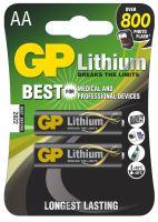 Baterie GP FR6, Lithium, AA, (Blistr 2ks)