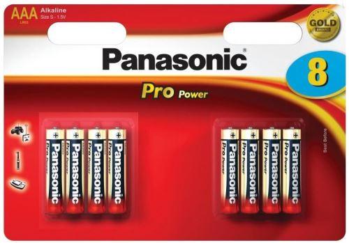 Baterie Panasonic Pro Power, LR03, AAA (Blistr 8ks)