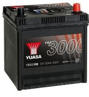 Autobaterie Yuasa YBX3000, 50Ah, 12V, 400A (YBX3108)