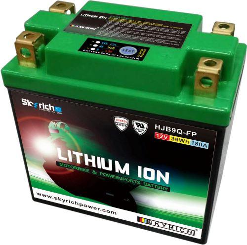 Motobaterie Skyrich HJB9Q-FP Lithium (12V, 3Ah, 180A, 36Wh)