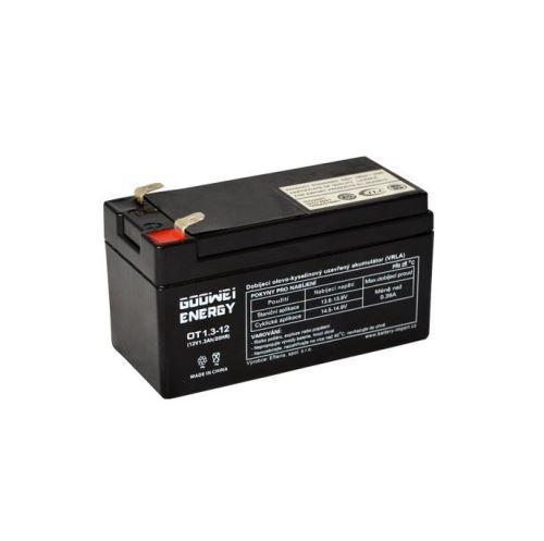 Staniční (záložní) baterie Goowei OT1.3-12, F1, 1,3Ah,12V ( VRLA )