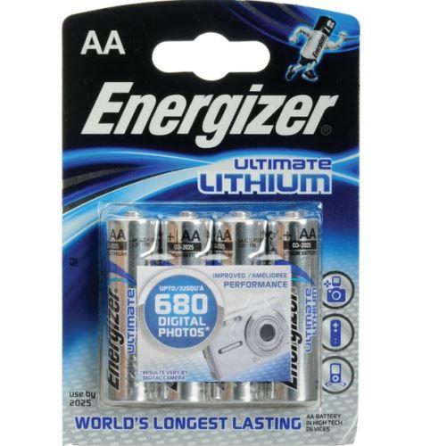 Baterie Energizer Ultimate AA, L91, Lithium, (Blistr 4ks)