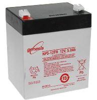 Záložní akumulátor (baterie) Genesis NP 5 -12, 5Ah, 12V, Faston 187, F1, úzký