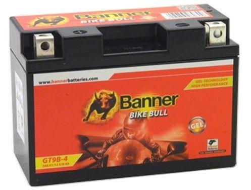 Motobaterie Banner Bike Bull GT9B-4, 12V, 8Ah, Levá