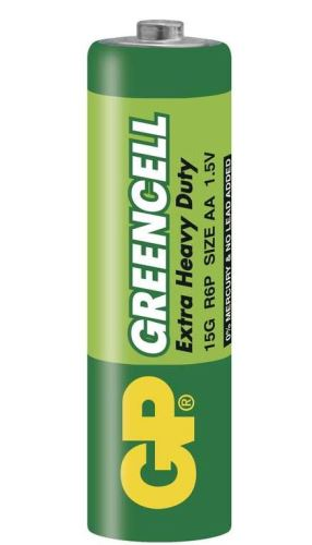 Baterie GP Greencell 15G, R6, primární AA, 1012204000, 1ks