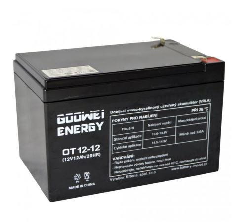 Staniční (záložní) baterie Goowei OT12-12, F2, 12Ah, 12V ( VRLA )