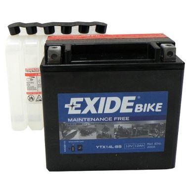 Motobaterie EXIDE BIKE Maintenance Free 12Ah, 12V, 200A, YTX14L-BS
