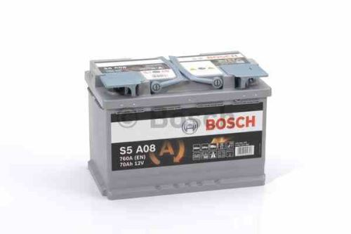 Autobaterie BOSCH S5A 080 Start Stop AGM, 70Ah, 12V, 760A, 0 092 S5A 080