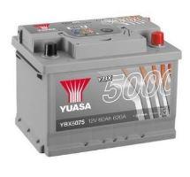 Autobaterie Yuasa Silver High Performance 60Ah, 12V, 620A (YBX5075)