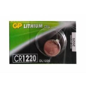 Baterie GP CR1220, Lithium, 3V, (Blistr 1ks)