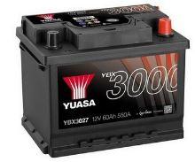 Autobaterie Yuasa YBX3000, 62Ah, 12V, 550A (YBX3027)
