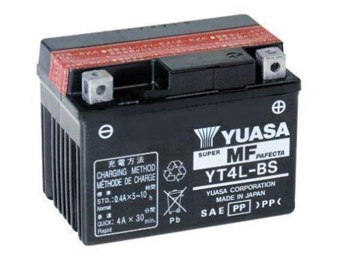 Motobaterie YUASA YT4L-BS, 12V, 3Ah