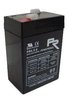 Staniční (záložní) baterie YUCELL OT4,5-6, F1, 4,5Ah, 6V ( VRLA )