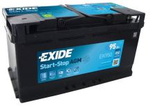 Autobaterie EXIDE Start-Stop AGM, 12V, 95Ah, EK950