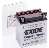 Motobaterie EXIDE BIKE Conventional, 12V, 11Ah, 130A, YB10L-B2