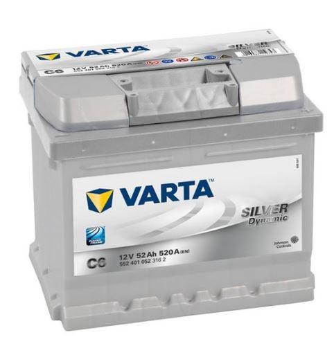 Autobaterie VARTA Silver Dynamic 52Ah, 12V, 520A, (C6)