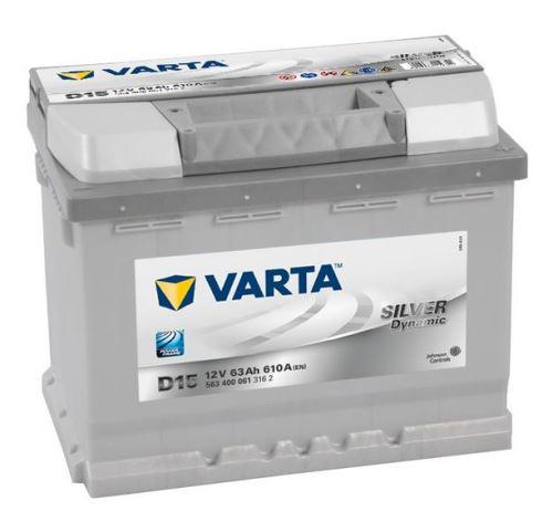 Autobaterie VARTA Silver Dynamic 63Ah, 12V, 610A, (D15)