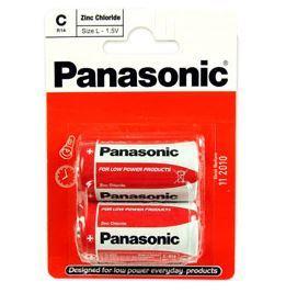 Baterie Panasonic zinco-carbon, R14RZ, C, (Blistr 2ks)