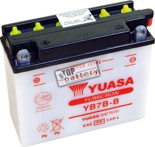 Motobaterie Yuasa YB7B-B, 12V, 7Ah